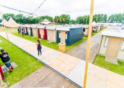 Pop up glamping village