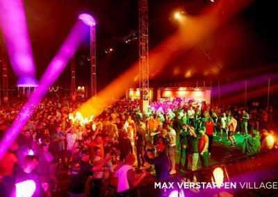 Party tent at Max Verstappen Village