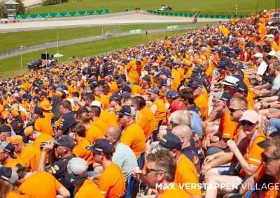 Spectators at Max Verstappen Tribune