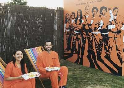 orange is the new black pop up hotel room