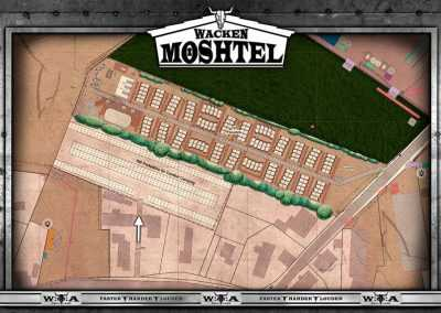 siteplan of Wacken Moshtel