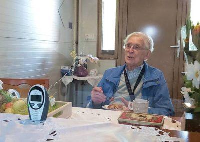 FlexVisit Paasontbijt met opa bij een zorginstelling